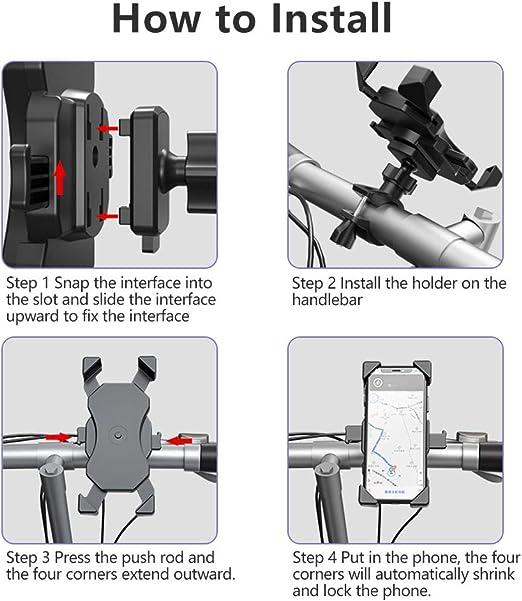 Handyhalterung Fahrrad Ein Klick Sperre Motorrad Elektronik
