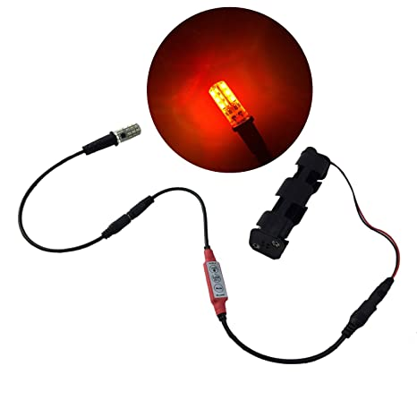 5828c7f05f16 Amazon.com  fire effect ember orange flame simulation LED light kit with  flicker effects control for props theatrical scenery faux flame and glowing  coal ...