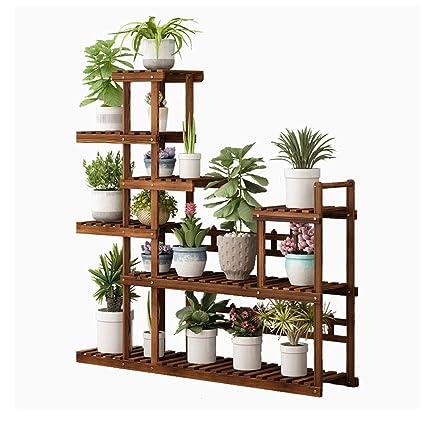 Amazon.com: Estantería de madera creativa para maceta de ...