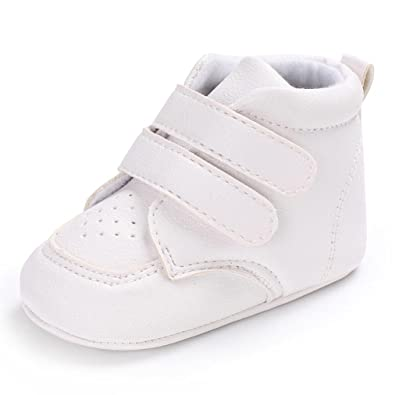 da1f71cdbb414 TRRAD Scarpe Neonato Unisex in Pelle Morbida - Ricamo a Forma di Cuore - Sneaker  Antiscivolo