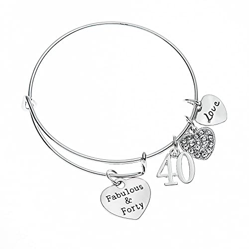 Amazon.com Infinity Collection 40th Birthday Gifts for Women 40th Birthday Expandable Charm Bracelet 40th Birthday Ideas Gift for Her Jewelry  sc 1 st  Amazon.com & Amazon.com: Infinity Collection 40th Birthday Gifts for Women 40th ...