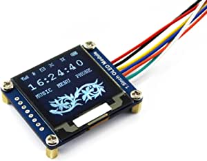 Waveshare 1.5 Inch OLED Display Module 128x128 Pixels 1.5 Inch Diagonal 16 bit Grey Level with Embedded Controller Communicating Via SPI or I2C Interface