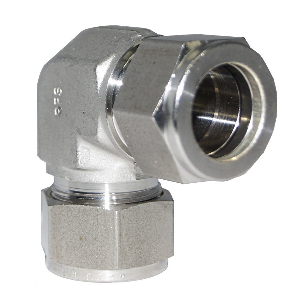 7.94MM OD 90 Degree Union Elbow Double Ferrule Fitting 5//16OD Stainless Steel SS316 Material