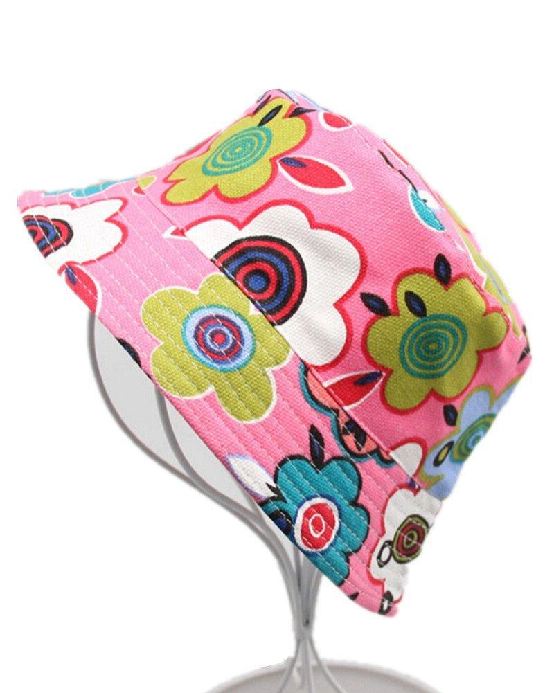 Fletion Motivo floreale Cappello da pescatore baby Cappello da sole per bambini Ragazzi neonati Cappello di pescatore Secchio Cappello Del Sole Protezione UV Protezione estiva