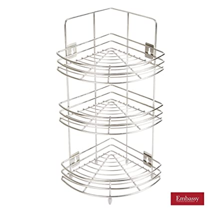 Embassy Corner Stand, Small   Triple (3 Tier), 23x57 Cms,