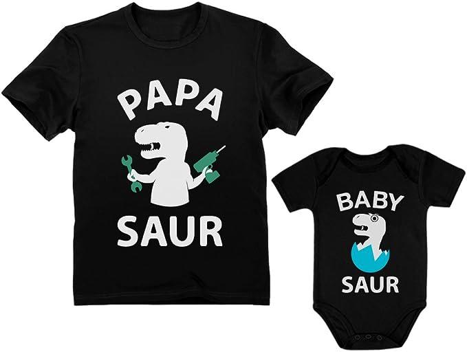 Papa /& Baby Bear Mens T-Shirt /& Baby Bodysuit Set Father /& Son Matching Set