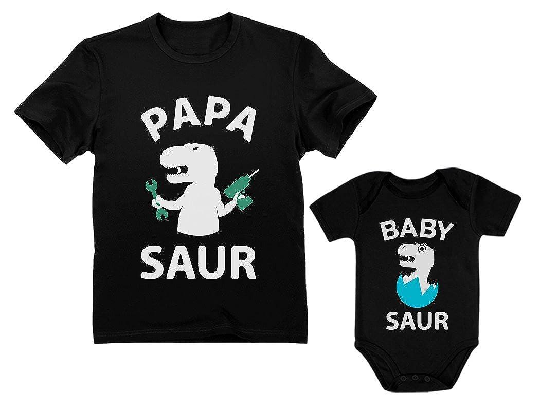 Papa Saur - T-Rex Dad & Baby Saur T-Rex Baby Matching Set Father's Day Gift nCs9nhA0