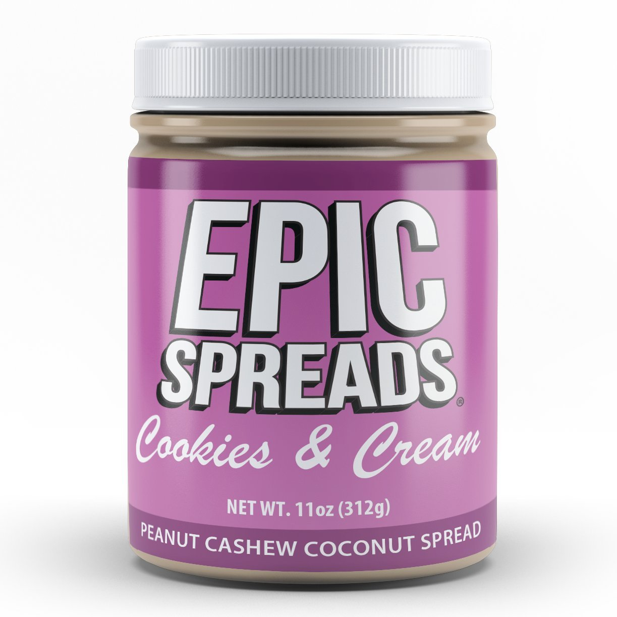 Epic Spreads Nut Butter Birthday Cake Peanut Cashew Cream Cr Kemasan Pink Coconut Grocery Gourmet Food