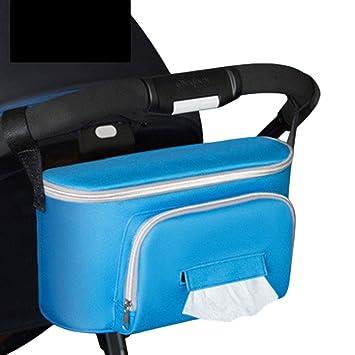 RUNGAO - Bolso organizador de pañales para cochecito de bebé, bolsa de pañales para cochecito de bebé, carrito, carrito, mamá, bebé, pañal, mamá, ...