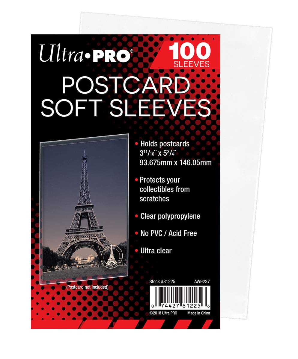 """Ultra Pro Postcard Soft Sleeves Ultra Clear 