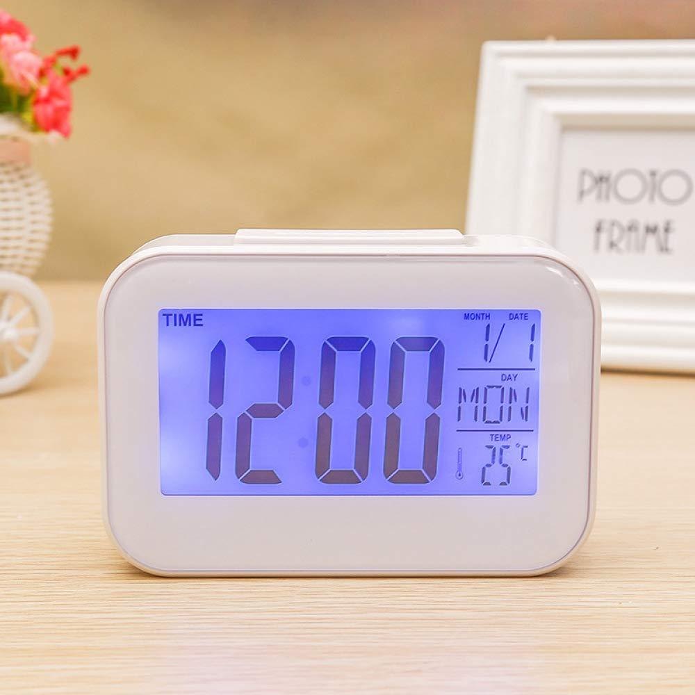 LKXNB Creativo Digital Mudo Pequeño Despertador Luminoso Reloj ...