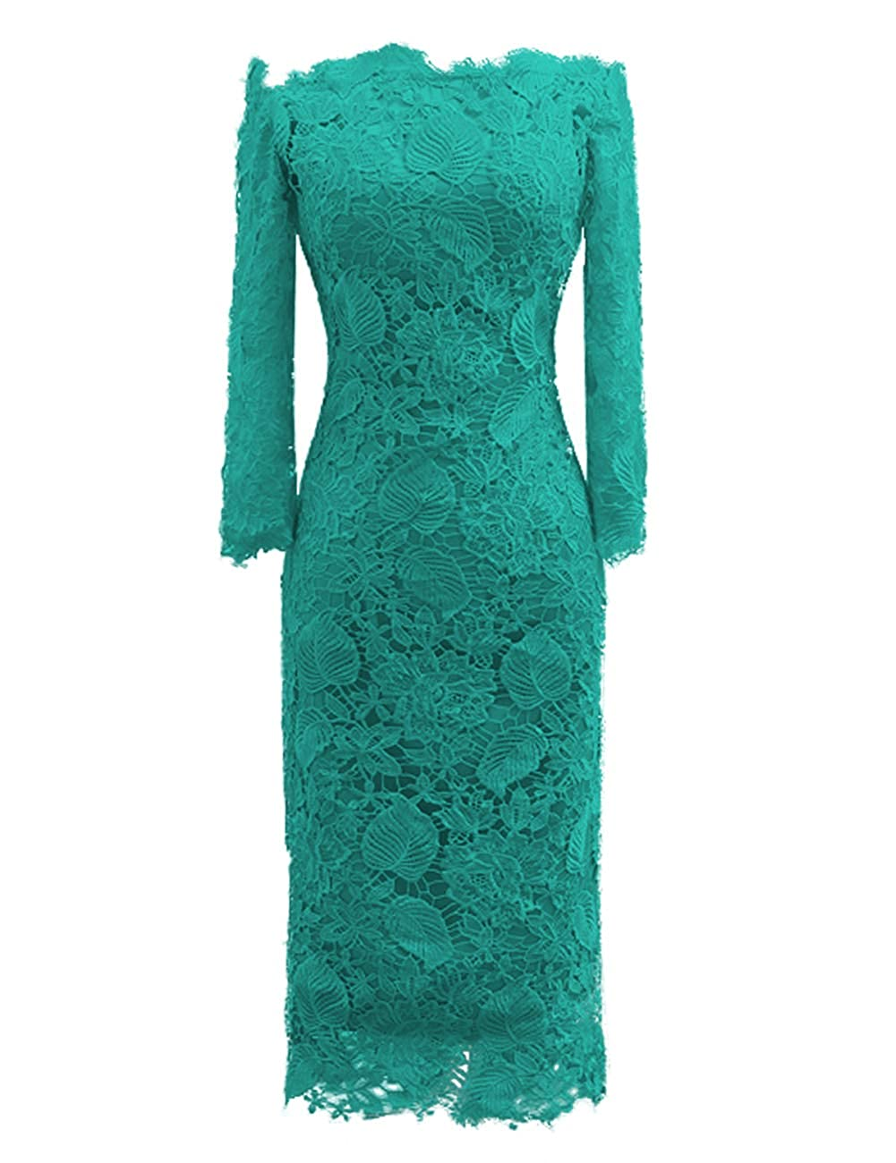 Dark Turquoise JAEDEN Mother of The Bride Dresses with Long Sleeves Lace Formal Evening Gowns Mermaid Evening Dresses Off The Shoulder