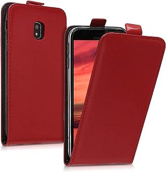 Image of kwmobile Funda Compatible con Samsung Galaxy J3 (2017) DUOS - Carcasa para móvil de Cuero sintético - Case en Rojo