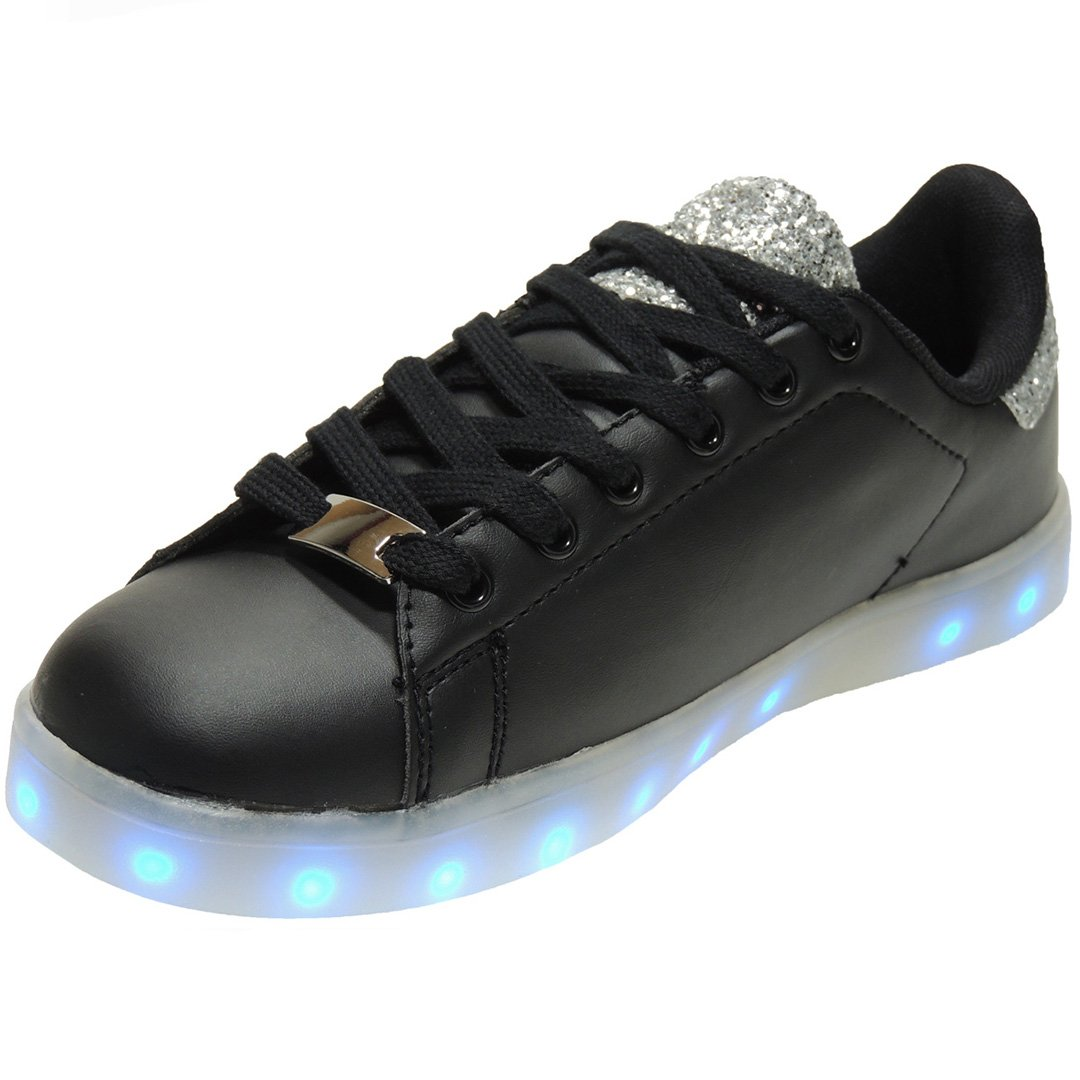 DEMAX. Zapatilla Luces Led Recargables y Programables Pra Niñ os - Modelo lucor3