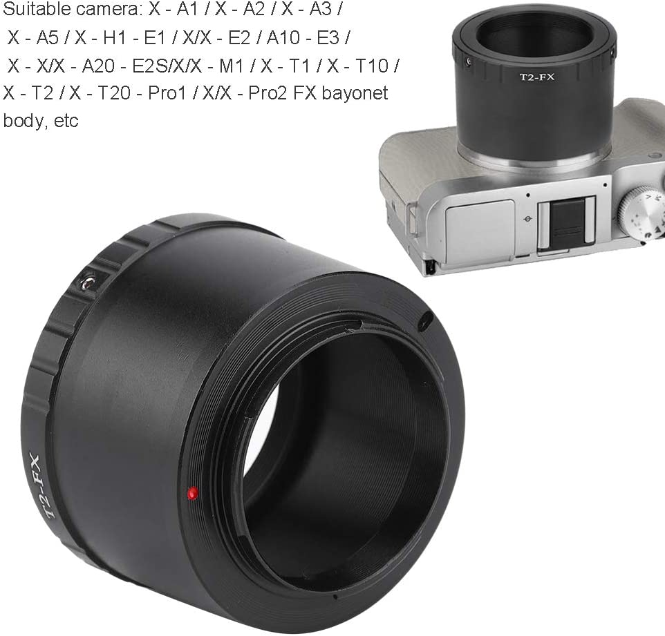 Bewinner Lens Adapters,Aluminium Alloy Lens Adapter Ring for T2 Mount Lens to Fit for FX Mount Camera Black,Compact Size and Easy to Carry