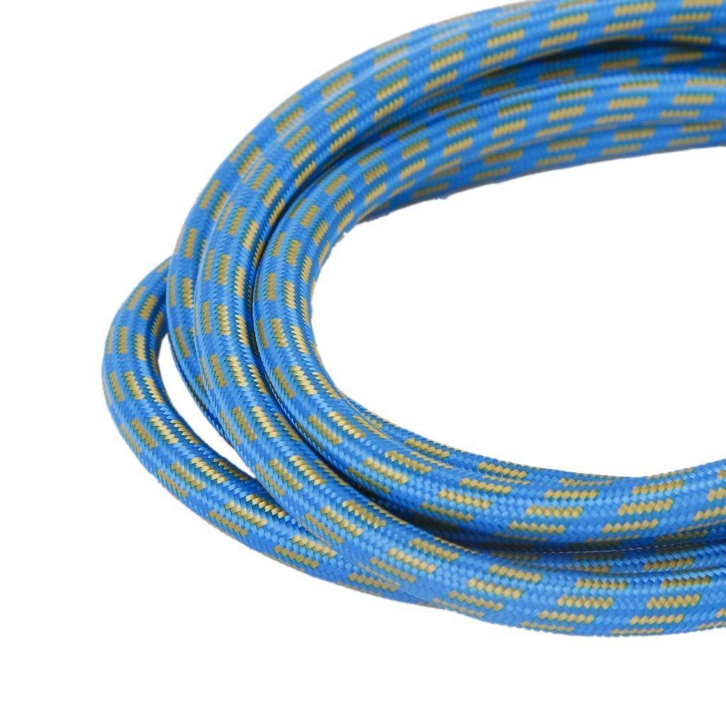 SODIAL Tuyau dair daerographe de 1.8M en Nylon Tresse de la couleur Bleu Jaune