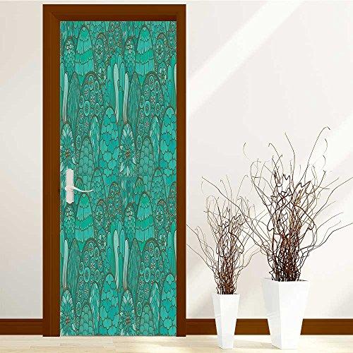 3D Door Wallpaper Creative Door Stickers Bedroom Doors Renovation Waterproof Door Stickers Arts Decals Wall Stickers Decor(Tuscan Collection Antique Looking Windo on Ancient -
