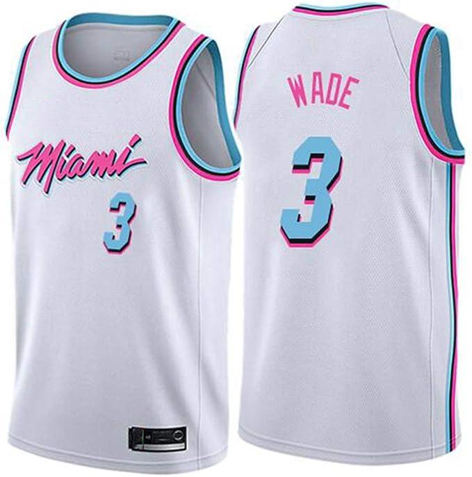 Suitable for Heat Wade 3 Basketball Jerseys Basketball Jersey Set Fans Basketball Jerseys Mens and Womens Sleeveless Basketball Shirts