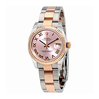 178397b5c43b Image Unavailable. Image not available for. Color  Rolex Datejust Lady 31  Pink Dial Stainless Steel and 18K Everose Gold Rolex Oyster Automatic Watch