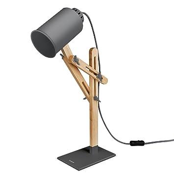 office lamp. tomons led desk lamp wooden multiangle swing arm designer table office led bedside o