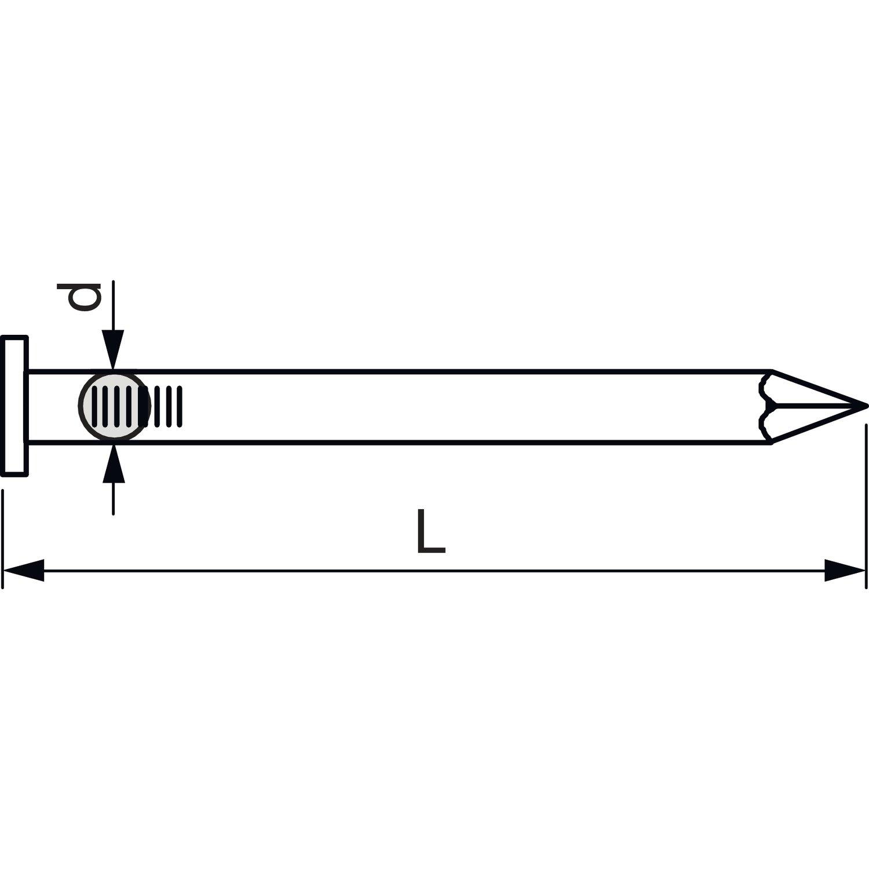 Secotec chiodo in acciaio con testa in ottone 2.0/X 50/SB 10 454532//10/BL 1 10/pezzi