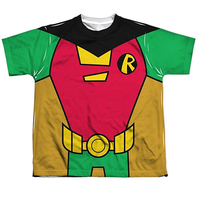 6e163f5c01d9 Image Unavailable. Image not available for. Color  Youth  Teen Titans Go-  Robin Uniform Kids T-Shirt ...