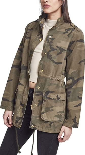 Urban Classics Ladies - Cotton Parka Jacket Wood camo at ...