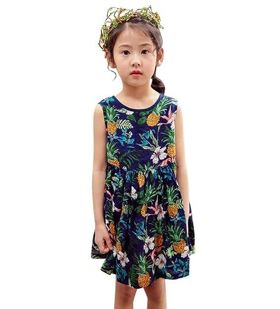 28903a9a6dd77 sutebago(ステバゴ)子供服 ワンピース女の子 子供服 キッズ 夏服 パイナップル 柄 花柄