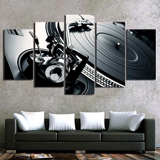 ZLQF 5 Paneles Cuadros en Lienzo Grande Arte Abstracto Grande ...