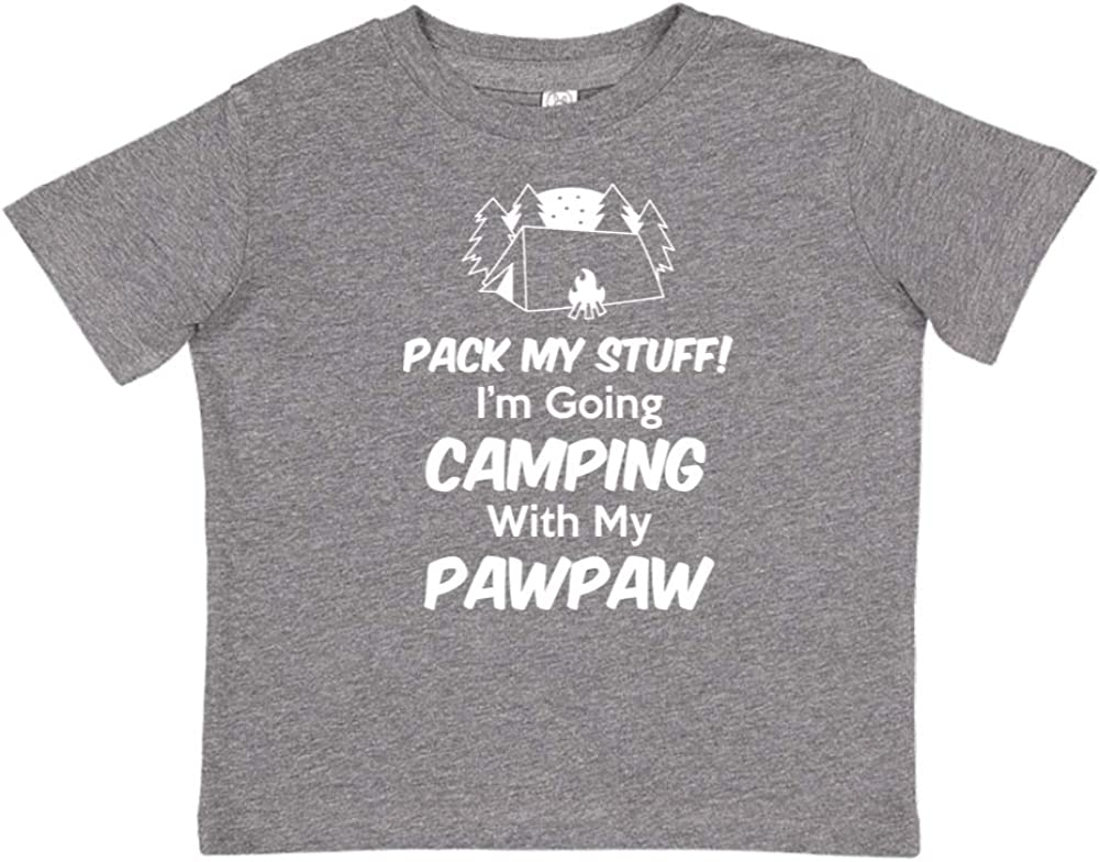 Pack My Stuff Toddler//Kids Short Sleeve T-Shirt Im Going Camping with My Pawpaw