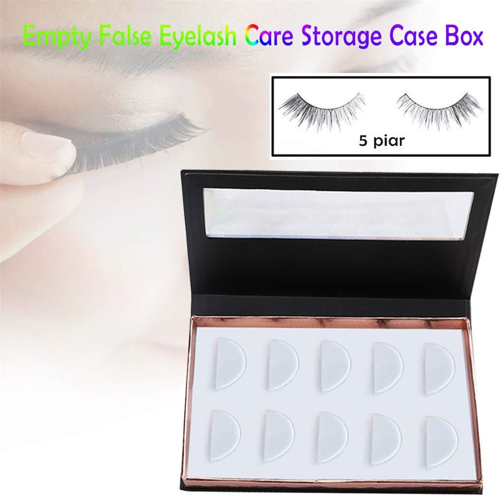7d40ed2642a Amazon.com : LiPing Empty False Eyelash Care Storage Case Box Container  Holder Compartment Tool (Black) : Beauty