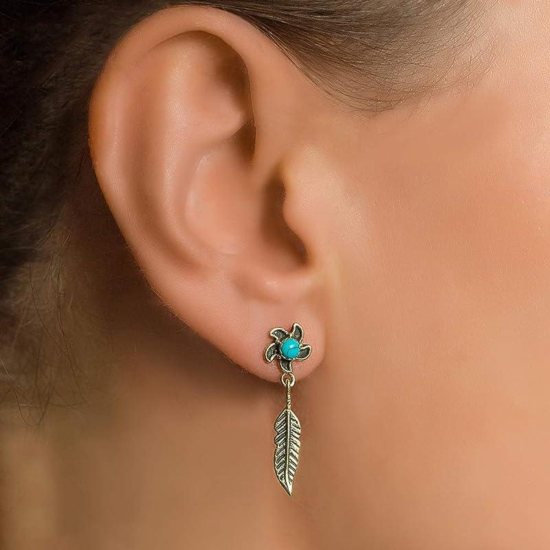 Purple turquoise soutache earrings Ethnic earrings Colourful statement earrings Unique jewelry Soutache jewelry Boho beadwork earrings