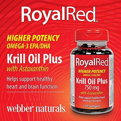 Webber naturals - RoyalRed Krill Oil Plus 750 mg with Astaxa