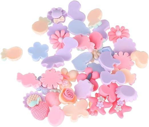 SUPVOX 40 unids Slime Charms Set Resina Flatback Slime Beads Candy Dulces Slime Charms DIY Colgantes Craft Hacer Caja del teléfono Clips para el cabello: Amazon.es: Hogar