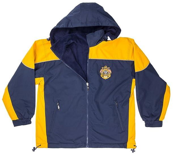 Amazon.com: Nylon Windbreaker Jacket with United States Navy ...
