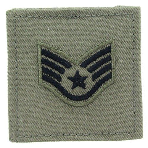 Air Force Rank Insignia (Sage Green AIR FORCE Rank Insignia - E-5 STAFF SERGEANT)