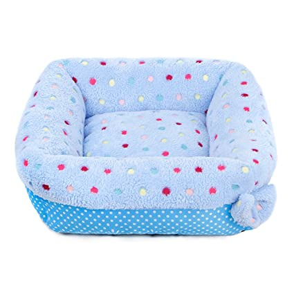Hukangyu1231 Cama de Perro Mascota Suministros para Mascotas Candy Color Square Teddy Dog Dog Nest Warm