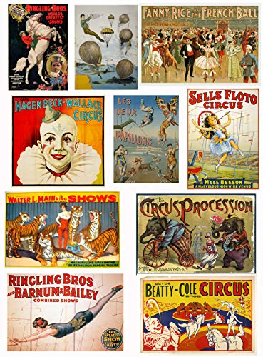 Victorian Vintage Circus Images #101 Collage Sheet 8.5 x 11