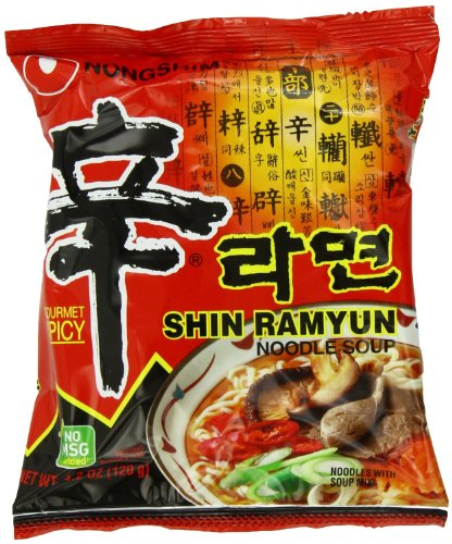 Nongshim Shin Ramyun Noodle Soup Gourmet Spicy No Msg 16/4.2 O0z - 16 Packs Wf13