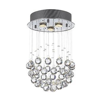 BMEI Moderne Wohnzimmer Mit Kronleuchtern Kristall GU10 Hängen  LED Beleuchtung Hauptdekoration Kristall Kronleuchter (