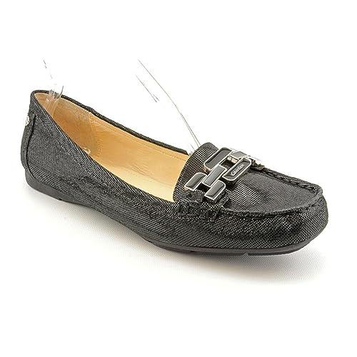 Calvin Klein Ricki - Mocasines de sintético para mujer negro negro 38.5: Amazon.es: Zapatos y complementos