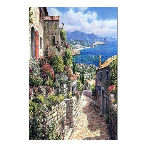 Beautiful Modern Art Watercolor Painting Italian town Canvas Print Wall Art 12