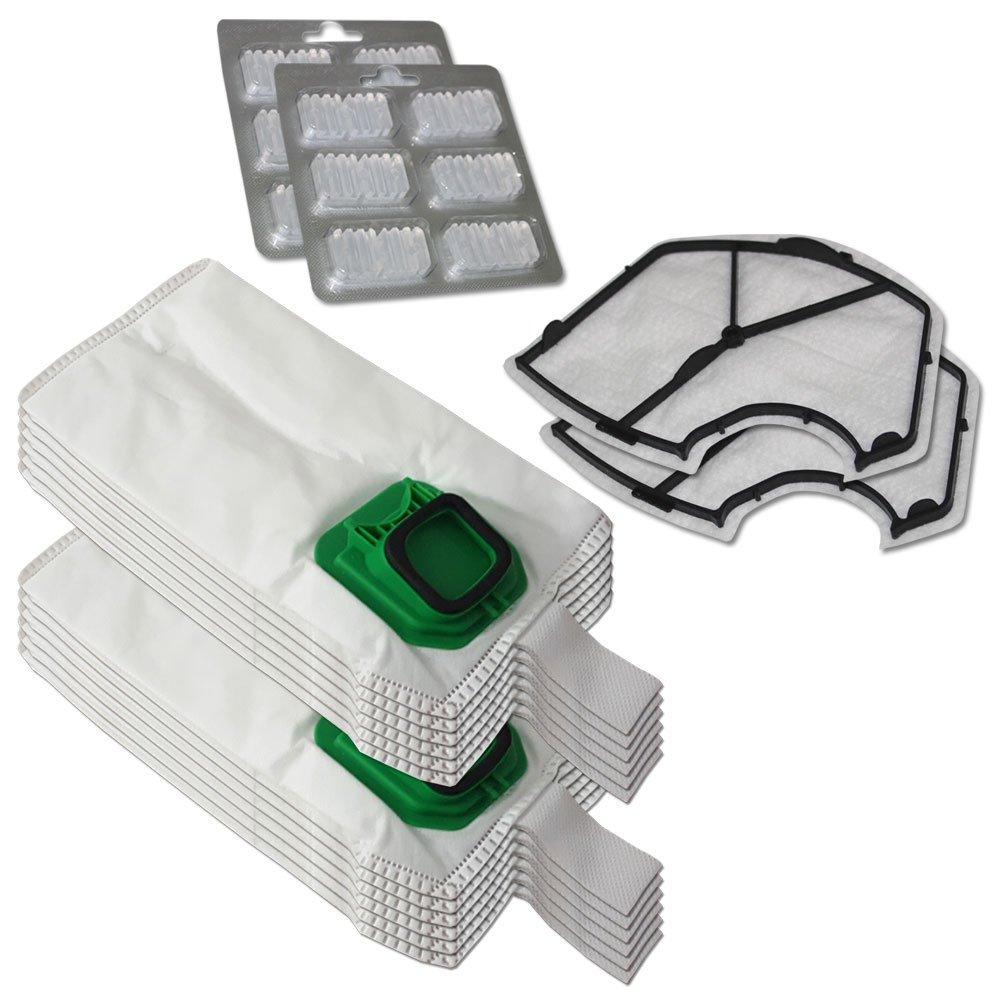 Acquisto KIT 12 Sacchi / Sacchetti (Microfibra) + 12 Profumini + 2 Filtri MOTORE per aspirapolvere Vorwerk Folletto Kobold VK 140, 150, VK140, VK150 Prezzo offerta