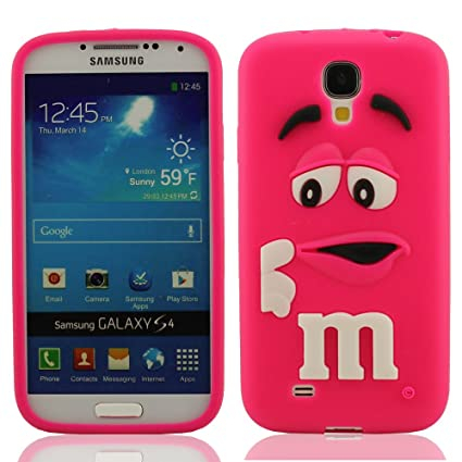 Hot-Pink Silicona Prima Funda protector para Samsung Galaxy S4 i9500, Dibujos Animados Estilo 3D Modelado Carcasa para Samsung Galaxy S4, Samsung ...