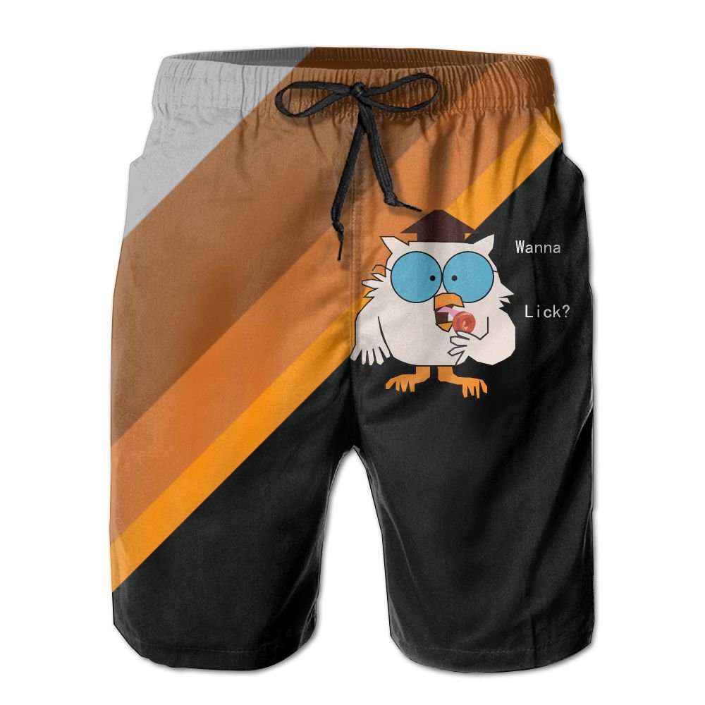 Tootsie Roll Pop Wanna Lick Mens Athletic Classic Summer Boardshorts with Pockets