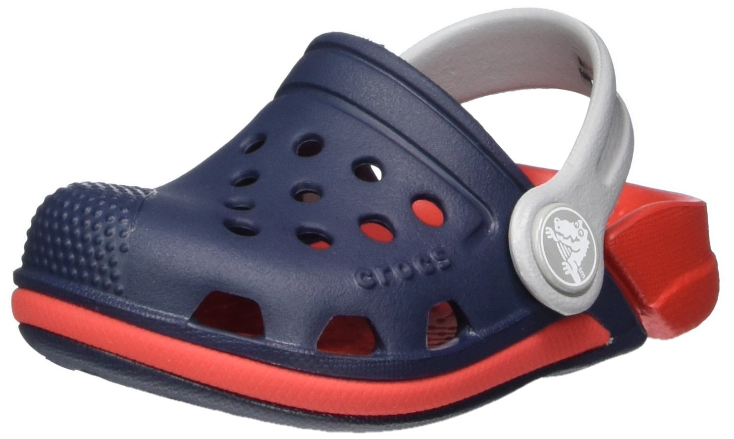 Crocs Kids' Electro III Clog, Navy/Flame, 8 M US Toddler