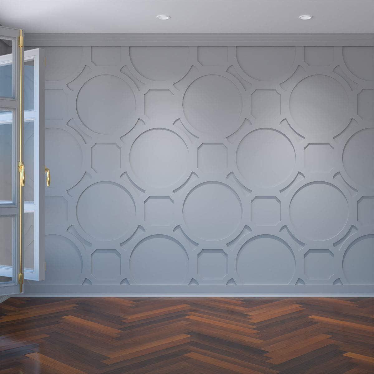 10-Pack Ekena Millwork WALP08X08HEM-CASE-10 Extra Small Hemingway Decorative Fretwork Wall Panels in Architectural Grade PVC