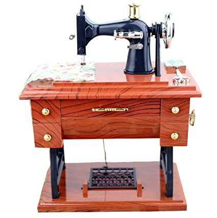 Amazon Sewing Machine Music Box Miniature Handmade Classic Unique Sewing Machine Music Box