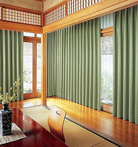 アスワン 風にゆれる稲穂をモチーフにしたシックなデザイン カーテン2倍ヒダ E6184 幅:200cm ×丈:210cm (2枚組)オーダーカーテン 210  B0784WSGTT