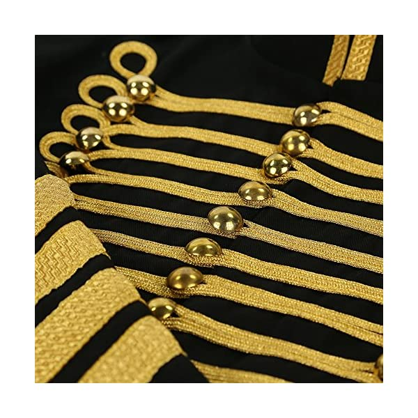 Ro Rox Gold Hussar Parade Steampunk Gothic Jacket 5
